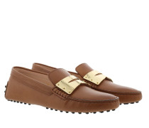 Schuhe Gommino Loafers Leather Cuoio Scuro