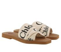 Sandalen Chloé Canvas Logo Sandals White