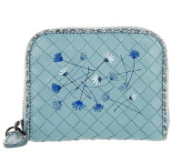 Small Floral Portafoglio Intrecciato Air Blue Portemonnaie