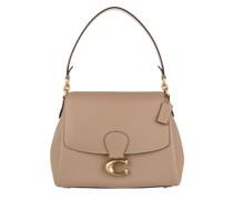 Umhängetasche Soft Pebble Leather May Shoulder Bag Taupe