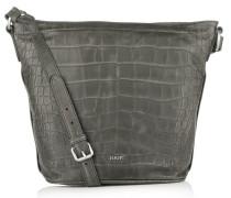 Joop! Tasche - Kassandra Shoulder Bag Large Croco Soft Dark Grey - in grau - Umhängetasche für Damen