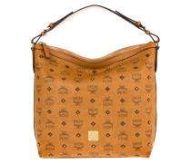 Gold Visetos Hobo Small Bag
