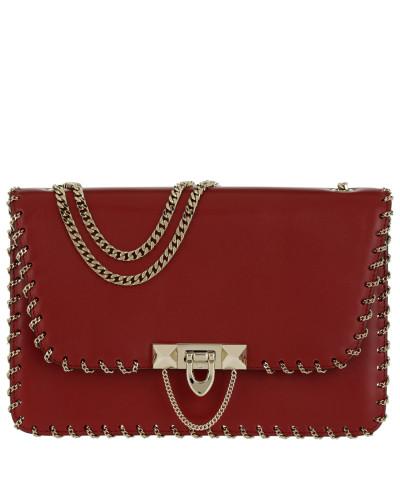 Valentino Damen Demilune Small Leather Bag Rosso Tasche