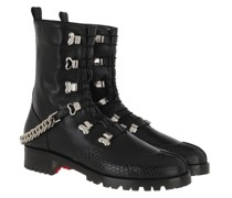 Boots Low Chain Leather Black