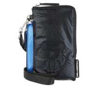 Pochette K/Ikonik Nylon Dpouch Metallic Black/Blue