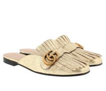 Marmont Metallic Laminate Slipper Schuhe