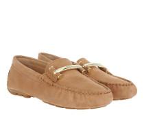 Caliana Suede Loafers Light Cuoio Schuhe braun