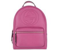 Soho Backpack Grained Pink Rucksack pink