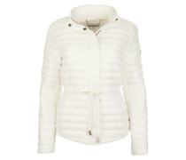 Packable Nylon Puffer Jacket Cream Mantel