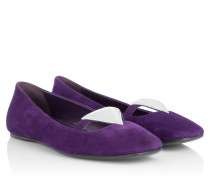 Ballerinas - Suede Ballerinas Purple