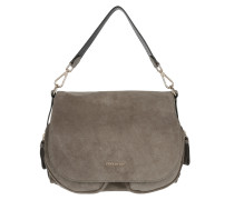 Janine Suede Shoulder Bag Militaire
