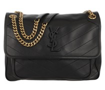 Umhängetasche Niki Medium Shoulder Bag Leather Black