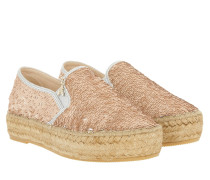 Espandrilles All Over Paillettes Rose/Silver Espadrilles