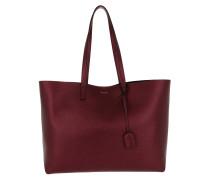 Large Shopping Bag Metallic Red Umhängetasche