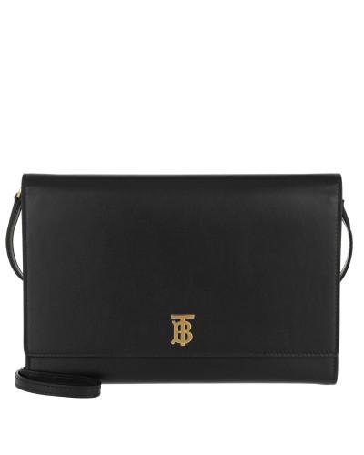 Umhängetasche Monogram Motif Bag Leather Black schwarz
