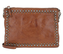 Pochette Shoulder Bag Studs/Strass Cognac Umhängetasche