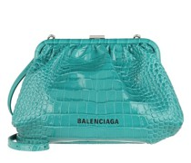 Crossbody Bags Cloud Clutch With Strap Croc Print Leather