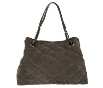 Tasche - Kaleido Quilted Suede Tote Grey