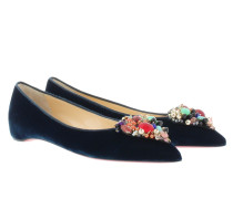 Diva Cora Flat Velvet Lagune/Multicolor Ballerinas