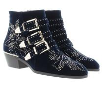 Susanna Short Velvet Boots Blue Lagoon Schuhe