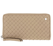 Piuma Braided Wallet Natural Portemonnaie beige