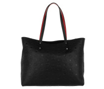 Klara Monogrammed Top Zip Shopper Medium Black Umhängetasche