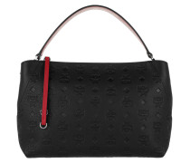 Klara Monogrammed Shoulder Bag Black Umhängetasche