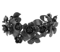 Bracelet Flowers Brass Black