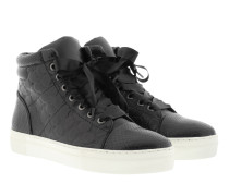 Daphne High Sneaker Soft Leather Black
