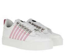 Sneakers Stripe Side White Pink
