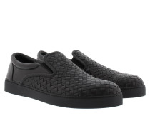 Sneakers - Dodger Woven Slip-on Sneaker Leather Nero