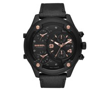 Uhr Boltdown Chronograph Leather Watch Black