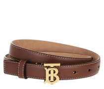 Gürtel Monogram Motif Buckle Belt Leather Brown