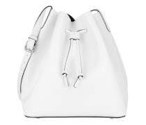Tasche - Carmen Calf Leather Bucket Bag White/Black