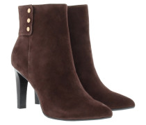 Eleni II Ankle Boot Suede Dark Brown