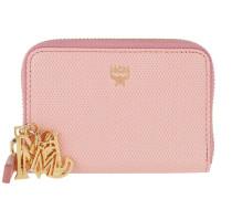 Otti Charm Zippered Card Wallet Mini Pink