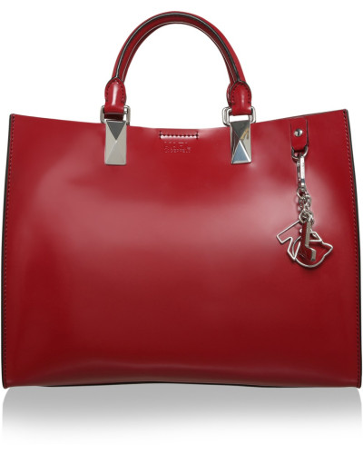 karl lagerfeld damen karl lagerfeld tasche k school tote glossy bordeaux in rot. Black Bedroom Furniture Sets. Home Design Ideas