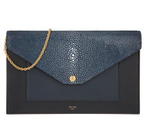 Tasche - Evening Clutch On Chain Crossbody Shagreen Navy Blue