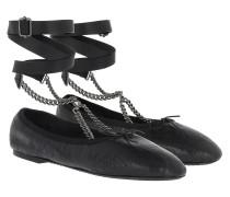 Rockstud Ballerina Black Ballerinas
