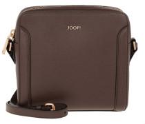 Keta Shoulder Bag Squaresized Dark Brown