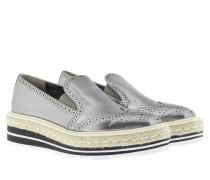 Loafers & Slippers - Vitello Specchio Slipper Piombo