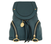 Olga Backpack Small Calfskin Steel Blue Rucksack