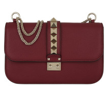 Rockstud Lock Umhängetasche Bag Medium Rubin