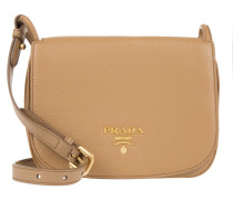 Tasche - Vitello Daino Pattina Crossbody Bag Caramel