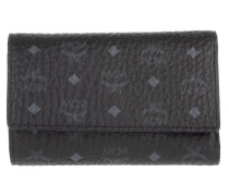 Color Visetos Three Fold Medium Wallet Black