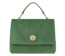 Satchel Bag Liya Suede Handle