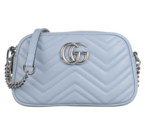 Umhängetasche GG Marmont Shoulder Bag Leather Light Blue/Porcelaine