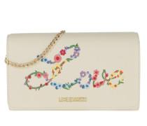 Umhängetasche Nappa Pu Chain Crossbody Bag Bianco weiß