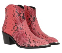 Boots & Stiefeletten Ankle Leather Snake Print