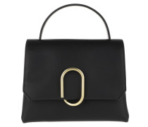Satchel Bag Alix Mini Top Handle Black Brass